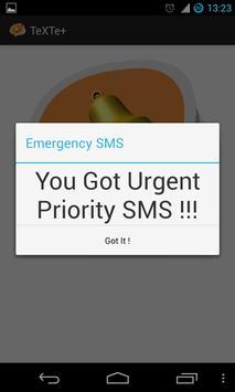 TeXTe - Emergency SMS apk screenshot
