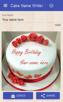 Cake Name Writer poster