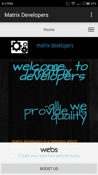 Matrix Developers poster