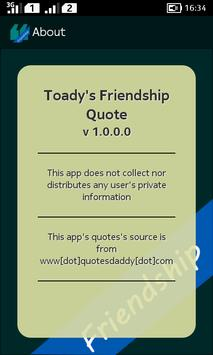 Todays Friendship Quote apk screenshot