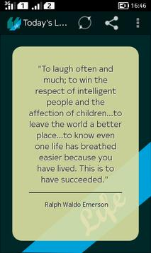 Todays Life Quote poster