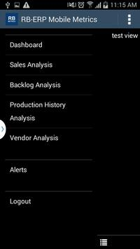 RB-ERP Mobile Metrics apk screenshot