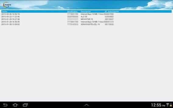 Recarga Tienda apk screenshot