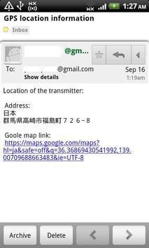 GPS transmitter mail apk screenshot