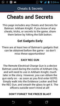 Fan app : Batman Arkham Knight apk screenshot