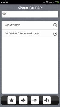 Guide for psp cheats apk screenshot