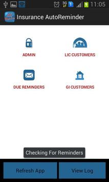 Insurance Autoreminder LIC GIC apk screenshot
