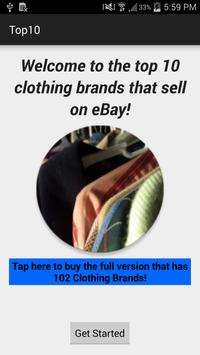 Top 10 Clothing Brands poster