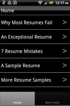 Resume Samples poster