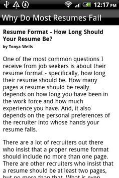 Resume Samples apk screenshot