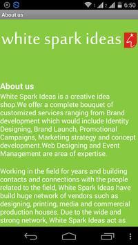 White Spark ideas apk screenshot