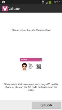 Validate NFC poster