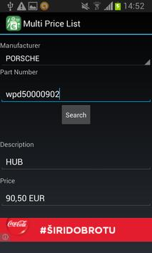 Multi Price List apk screenshot