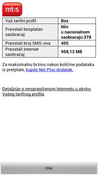 Provera stanja MT:S apk screenshot
