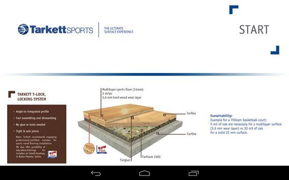 Tarkett Wood Sports Visualiser poster