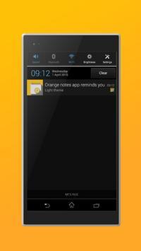 Orange notes apk screenshot