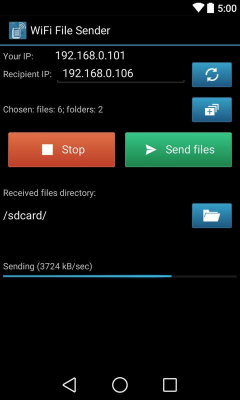 WiFi File Sender APK Download - Free Tools APP for Android ...