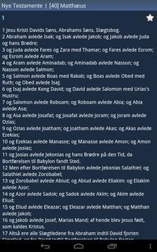 Danish Holy Bible apk screenshot