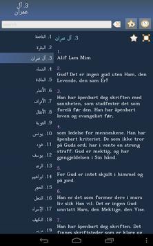 Quran in Norwegian apk screenshot