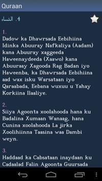Qur'aan - Quran in Somali apk screenshot