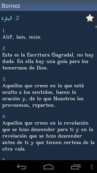 Corán - Quran in Spanish apk screenshot