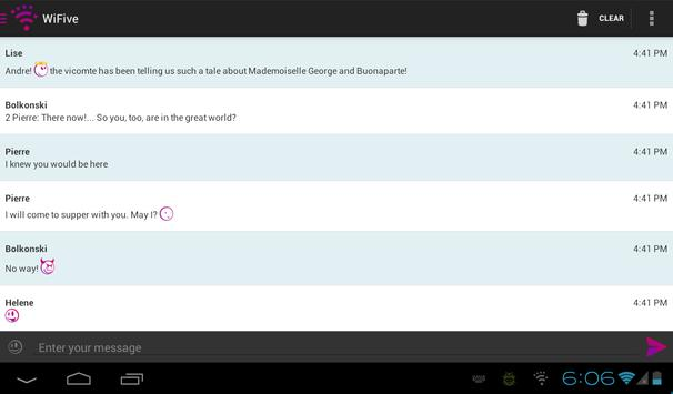 WiFive - Wi-Fi chat apk screenshot