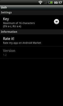 Shifr (Cypher) apk screenshot