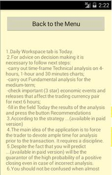 Forex Strategy (Demo) apk screenshot