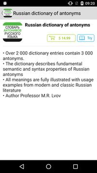 Dictionary of Russian Antonyms poster