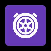 Drag stopwatch icon
