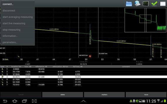 GAMMA OTDR apk screenshot