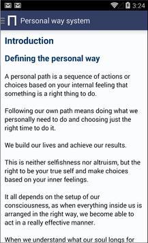 The Personal Way System apk screenshot