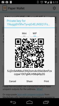 Bitcoin Paper Wallet apk screenshot