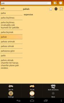 English Turkish dictionary apk screenshot