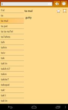 English Tzotzil Dictionary apk screenshot