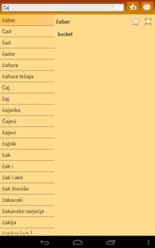 English Bosnian dictionary apk screenshot