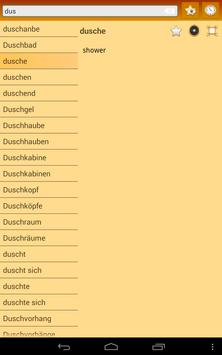 English German dictionary apk screenshot