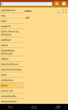 English Faroese Dictionary apk screenshot