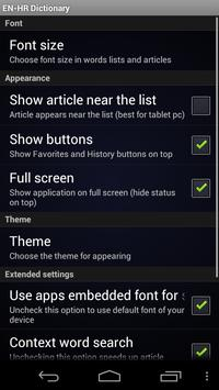 English Croatian dictionary apk screenshot