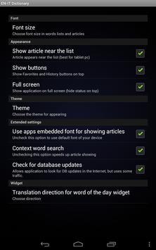 English Italian dictionary apk screenshot