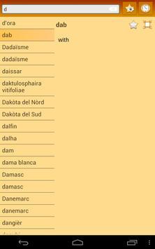 English Occitan Dictionary apk screenshot