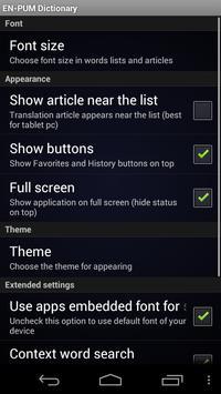 English Puma Dictionary apk screenshot