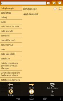 Kazakh Czech Dictionary apk screenshot