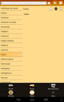 Kazakh French Dictionary apk screenshot
