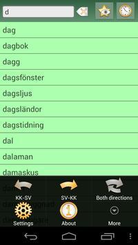 Kazakh Swedish Dictionary apk screenshot