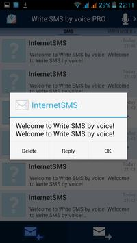 Write SMS by voice apk screenshot