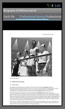 Muhammad Ali Biography apk screenshot