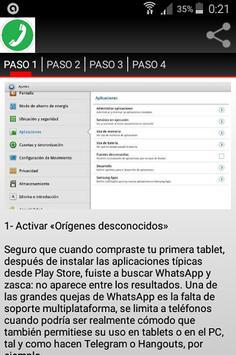 Wasap gratis para tablet apk screenshot