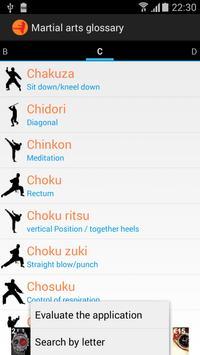 Martial arts glossary english poster