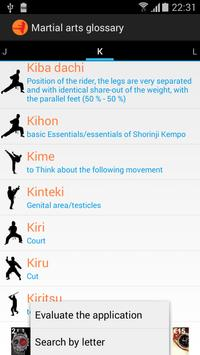 Martial arts glossary english apk screenshot